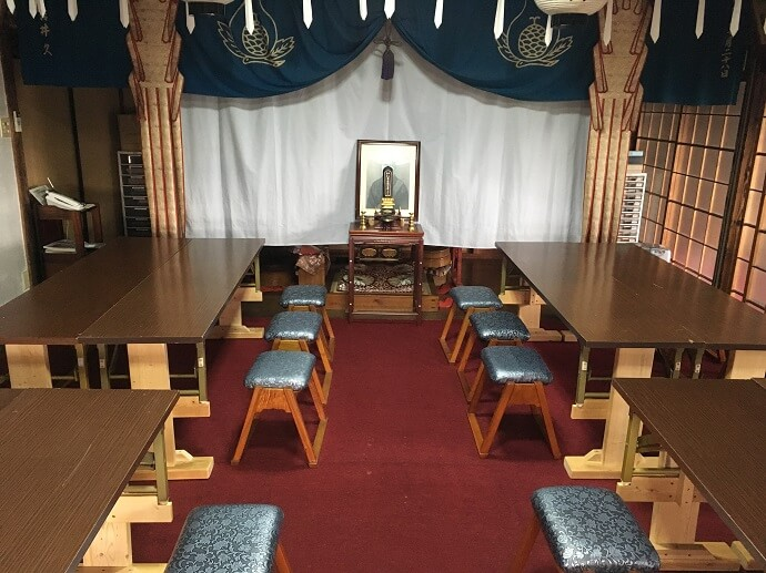 お寺でも法事のあとにお食事(お斎)ができます