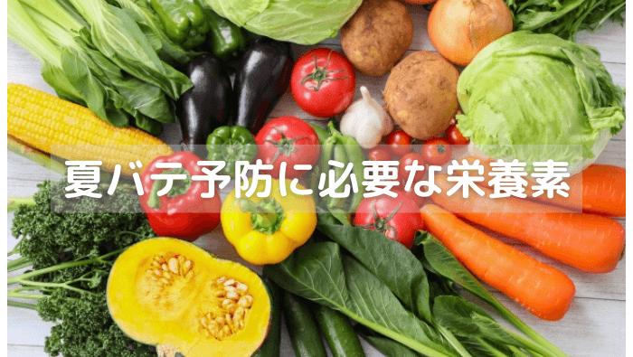 夏バテ予防に必要な栄養素